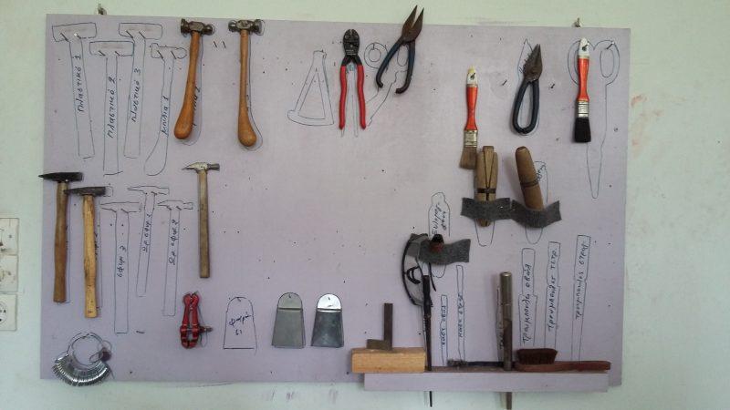 Η εργαλειοθήκη του εργαστηρίου.