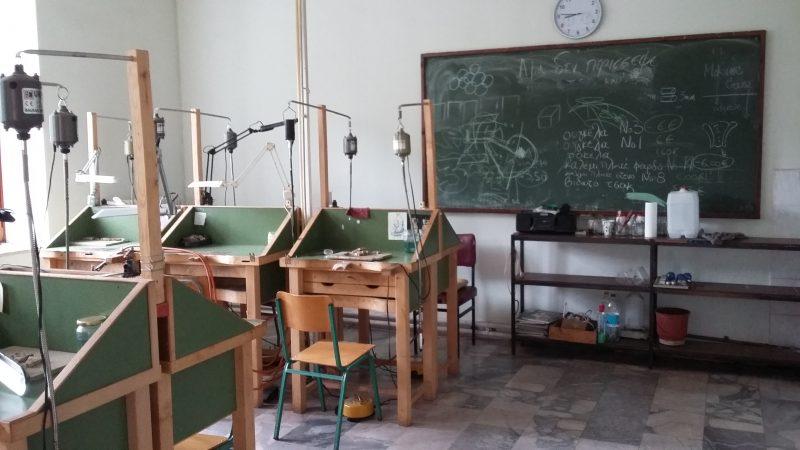 Άποψη του εργαστηρίου αργυροχρυσοχοϊας.