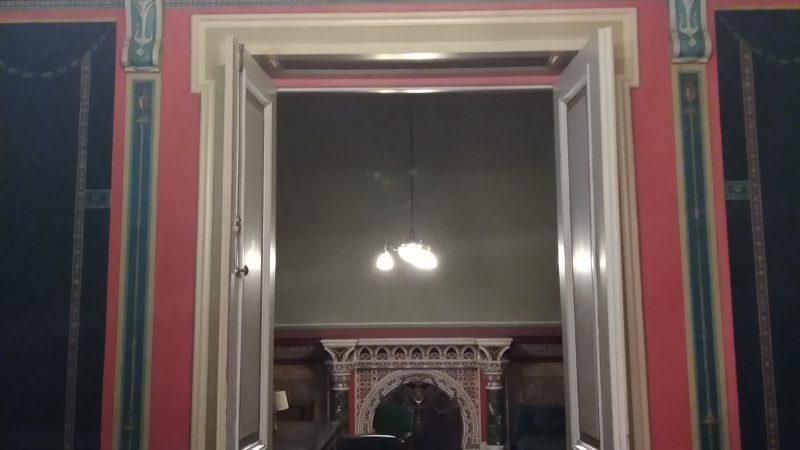 Λεπτομέρεια θύρας & υπέρθυρου στον 1ο όροφο.