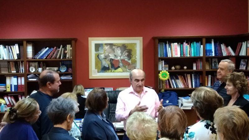 ΕΔΡΑ ΑΝΑΤΟΜΙΑΣ: Ο καθηγητής κ. Παναγιώτης Σκανδαλάκης σε διάλογο με τους Φίλους .