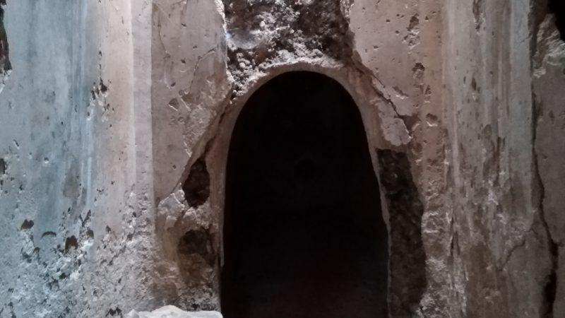 Εσωτερικό της ρωμαϊκής δεξαμενής.