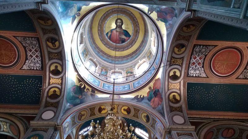 Εσωτερική άποψη του ναού. Ο τρούλος.