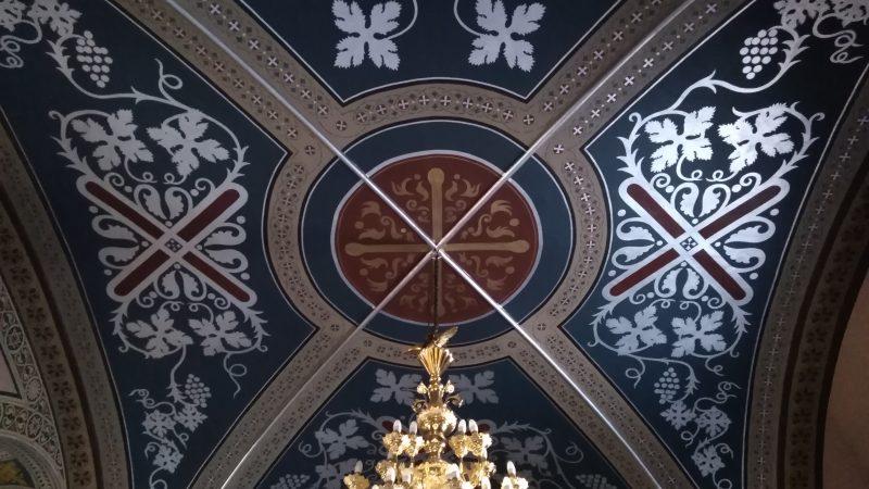 Λεπτομέρεια οροφής του ναού.