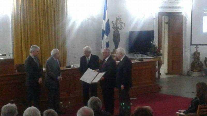 Η τελετή της απονομής του βραβείου, από τον κ. Πρόεδρο της Δημοκρατίας.