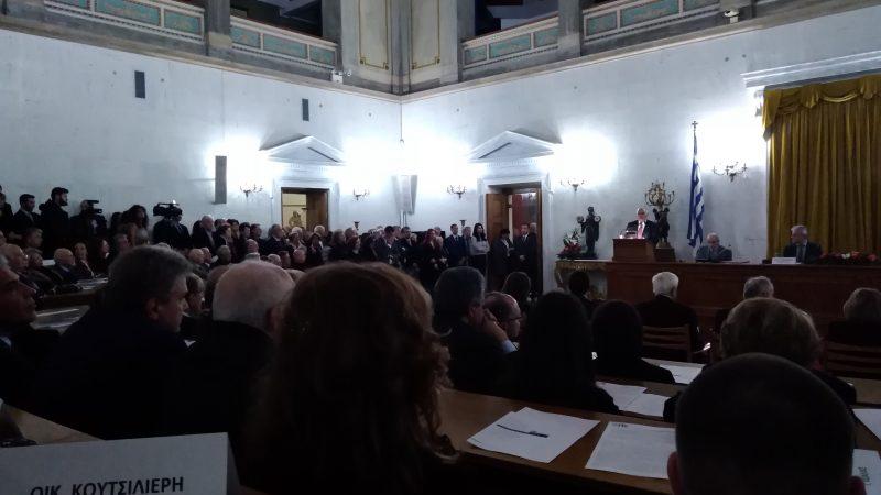 Άποψη της Αίθουσας Συγκεντρώσεων της Παλαιάς Βουλής.