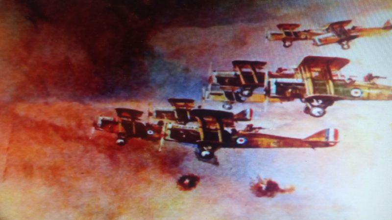 Σμήνος αεροπλάνων κατά τη διάρκεια του Α΄ Παγκοσμίου Πολέμου