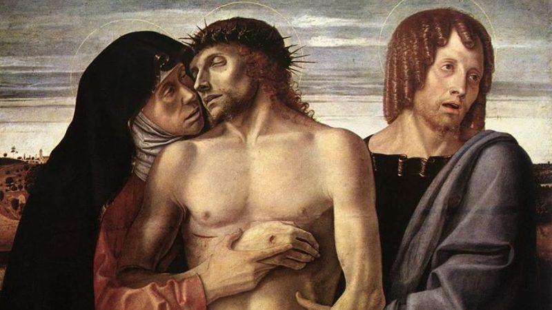 Giovanni Bellini, Pietà (Θρήνος),1465-70. τέμπερα σε ξύλο, 86Χ107. εκ., Πινακοθήκη της Μπρέρα, Μιλάνο.